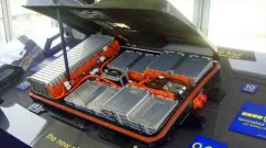 A Nissan Leaf battery pack – similar to what you might expect for a home battery.