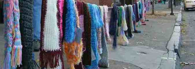 'Yarn Bombing' Movement Shares Scarves, Hats in Public Places