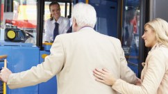elevation - woman helps elderly man