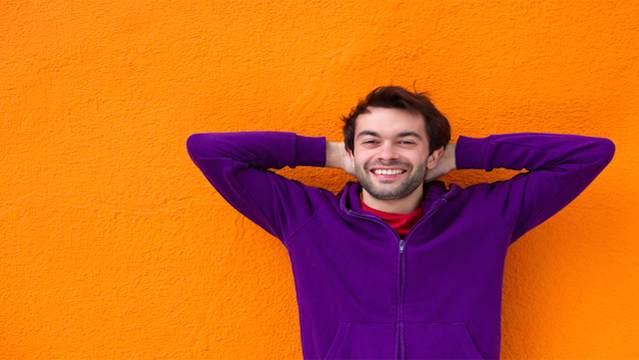 Happy man image via Shutterstock