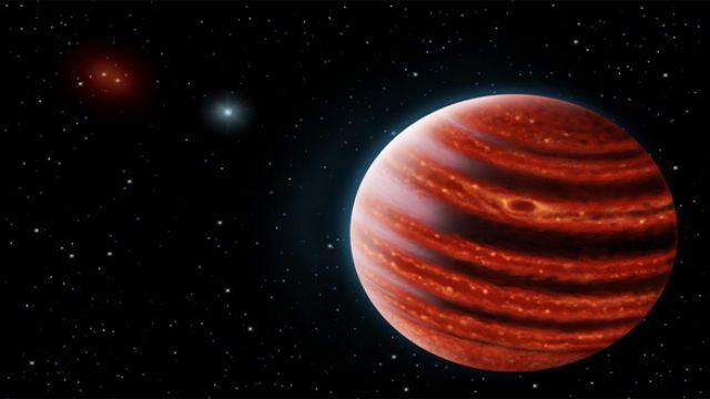 photo credit: Artist's impression of the Jupiter-like exoplanet, 51 Eridani b. Danielle Futselaar & Franck Marchis/SETI Institute.