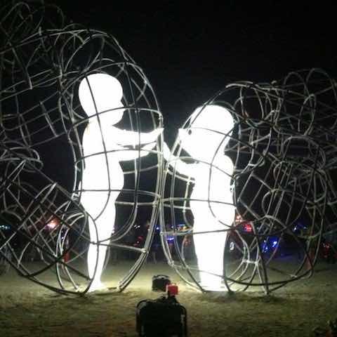 love sculpture night
