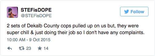 chill cops tweet