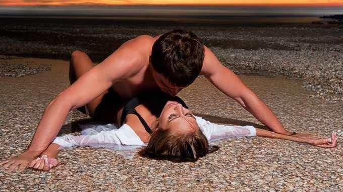 sexy couple on beach