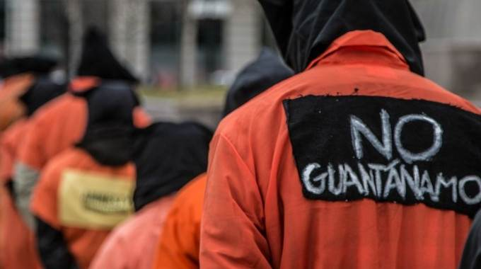 Demonstrators including members of Witness Against Torture take part in a Guantanamo protest in Washington, DC in 2013. (Photo: Justin Norman/flickr/cc)