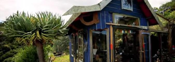 Check Out the Creative Ocean View Tiny House This Man Built for Around $1300
