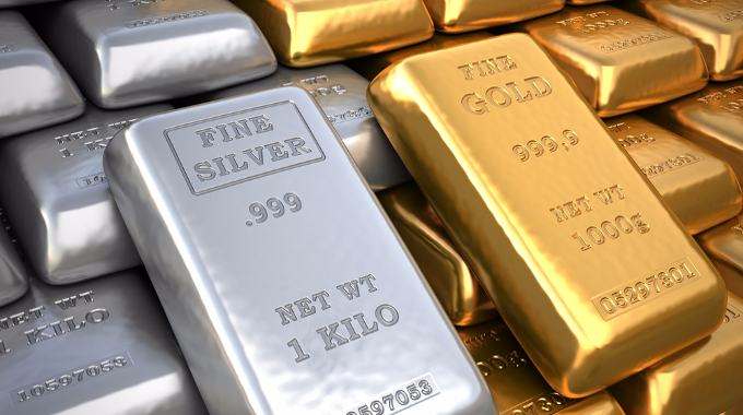 Fine Gold and Silver-compressed