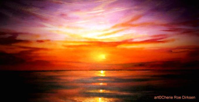 Purple Sunset by Cherie Roe Dirksen