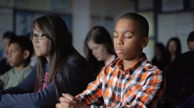 Students meditation-compressed