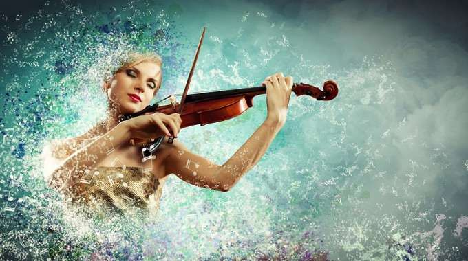 gorgeous woman playing violin-compressed