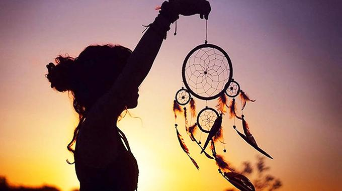 woman with dreamcatcher