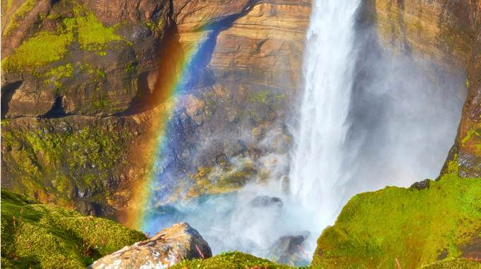 The Háifoss waterfall in the heart of Iceland. (Photo: Moyan Brenn/flickr/cc)