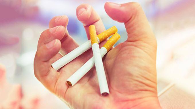 smoking cigarettes hand