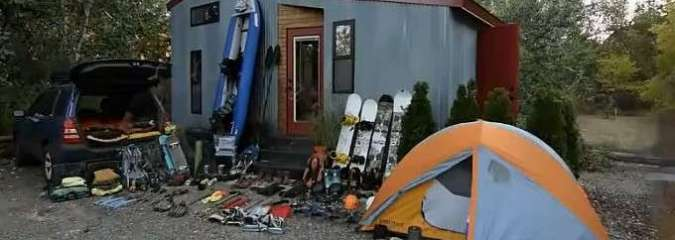 Think You Can't Fit Outdoor Gear In a Tiny House? Watch This Amazing Video!