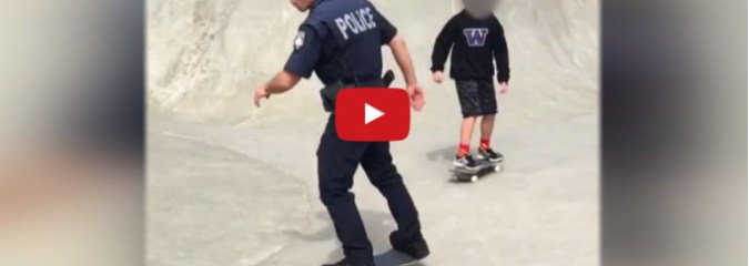 Police Officer Skates With Youth While On Patrol For An Inspiring Reason