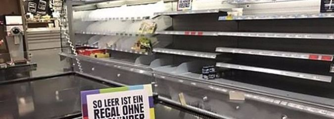 German Supermarket Removes All Foreign Food From Shelves To Make A Point About Racism