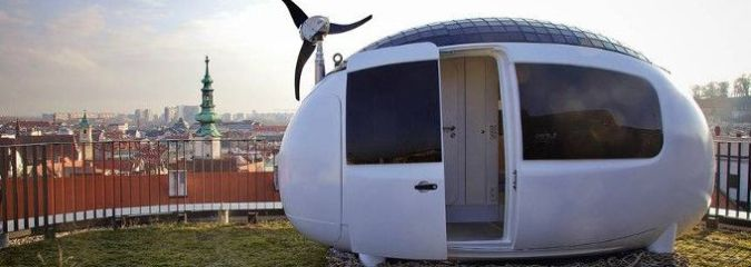 Would You Live in an Egg? The Ecocapsule Is a Cute and Modern Off-Grid Tiny Home