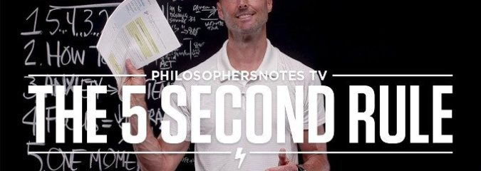 MUST SEE: The 5 Second Rule by Mel Robbins | Reviewed by Brian Johnson