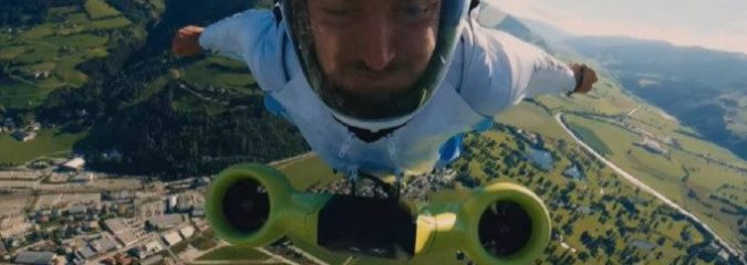 BMW Develops Turbocharged Electric Wingsuit That Lets You Fly at 186 Mph