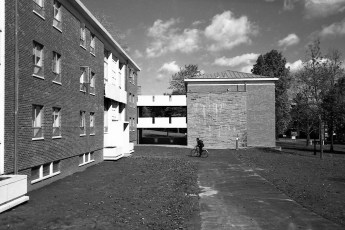 Newly finished social dorms, summer 1963. (67-080-18 neg 27)