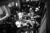 Students protesting in Converse following the spring 1978 Trustee meeting