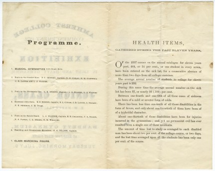 Interior of Exhibition program, July 9, 1872