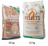 comparaison sac granulé 10 15 kg