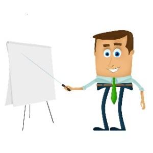 a quoi sert le storytelling _ un homme en cravate montre un tableau