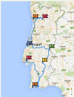 Aller Au Portugal En Train : aller, portugal, train, Itinéraire, Portugal