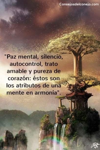 """""""Paz mental, silencio, autocontrol, trato amable y pureza de corazón: éstos son los atributos de una mente en armonía"""". —Bhagavad Gita 17.16"""