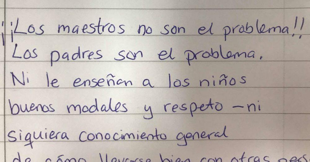 LOS MAESTROS NO SON EL PROBLEMA