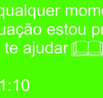 Euteajudo - Isaías 41:10 - Mensagem