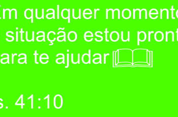 Isaías 41:10 – Mensagem