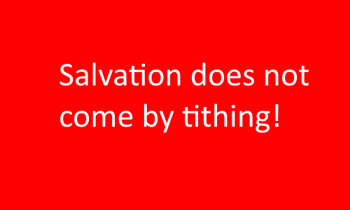Heresy - Heresies about tithing