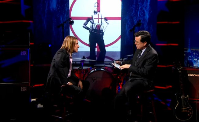 Watch Iggy And The Stooges Destroy The Colbert Report
