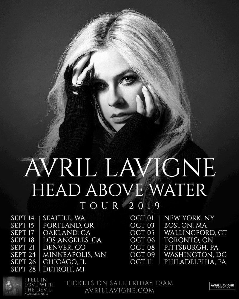 Avril Lavigne 2019 tour