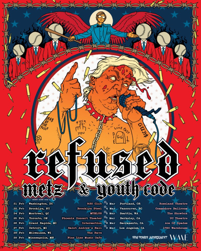 Refused 2020 Tour Poster Trump Image