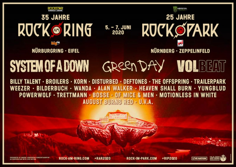 Rock Am Ring and Rock Im Park 2020 Poster