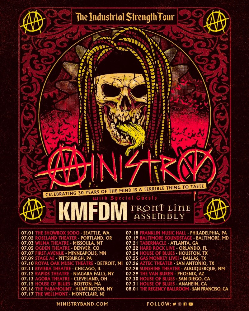 Ministry Tour 2020 poster