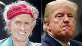 Keith Richards and Donald Trump