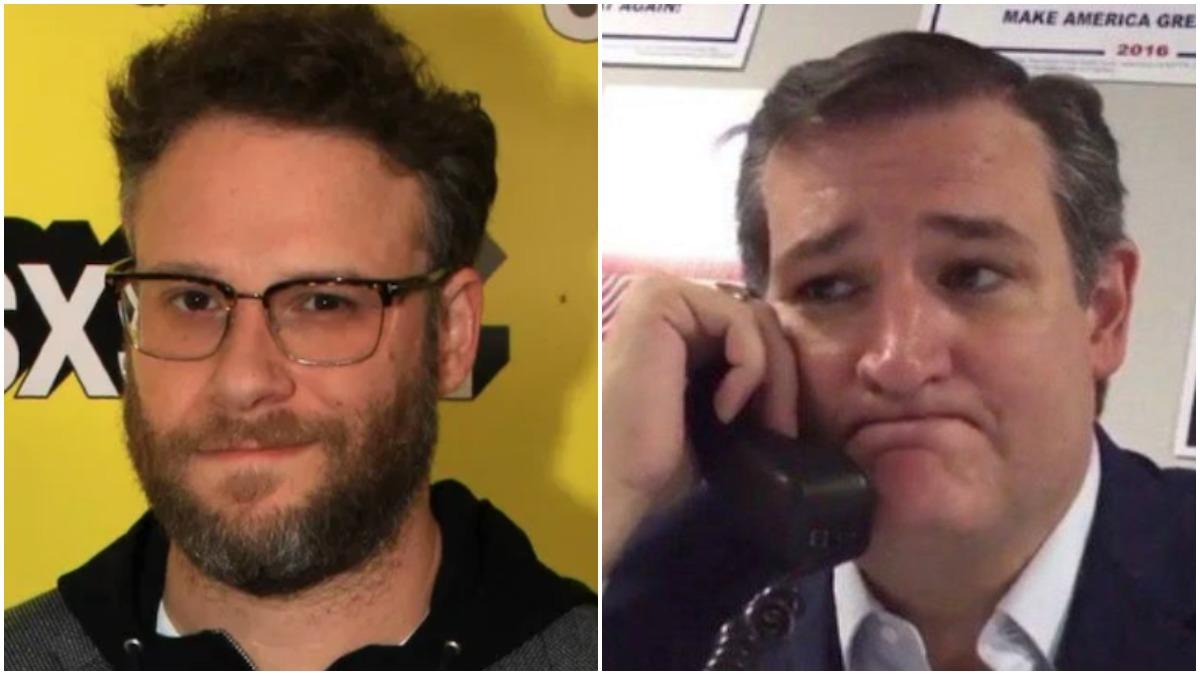 "Seth Rogen Keeps Telling ""Fascist"" Ted Cruz to ""Fuck Off"" on Twitter"