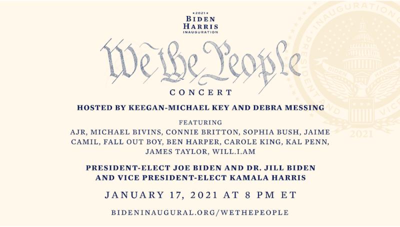 We the People concert poster Joe Biden