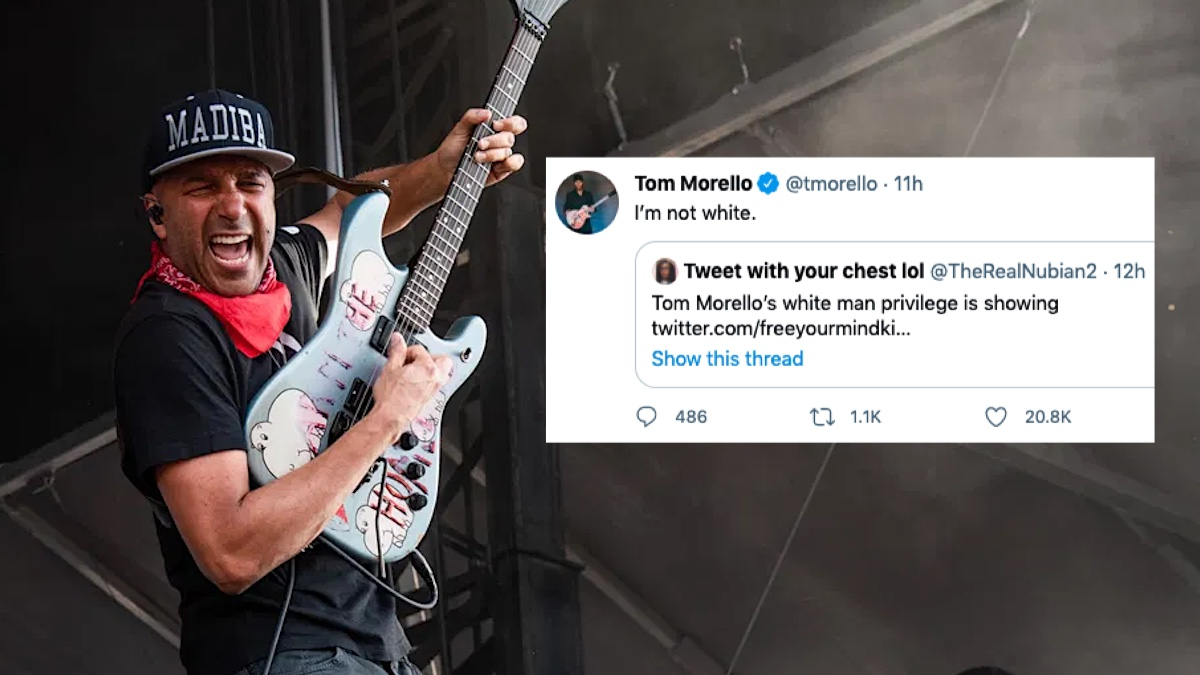 "Tom Morello to Twitter User Accusing Him of ""White Privilege"": ""I'm Not White"""