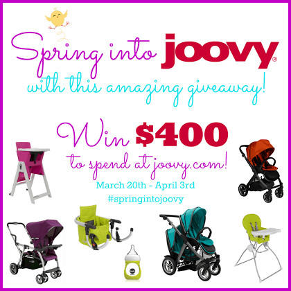 Joovy Review and $ 100 Gift Card Giveaway! - The Mommyhood Chronicles