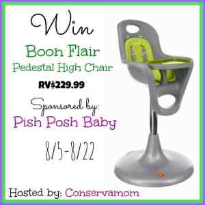 Boon Flair Pedestal High chair Review &  Giveaway ends on 8/22