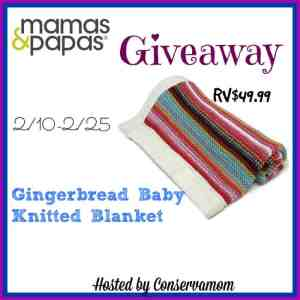 Mamas & Papas Gingerbread Knitted Blanket Giveaway ends 2/25
