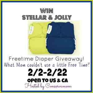 Win a Set of Freetime Jolly & Stellar Diapers ends 2/22