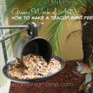 Green Work of Art: How to Make a Teacup Bird Feeder
