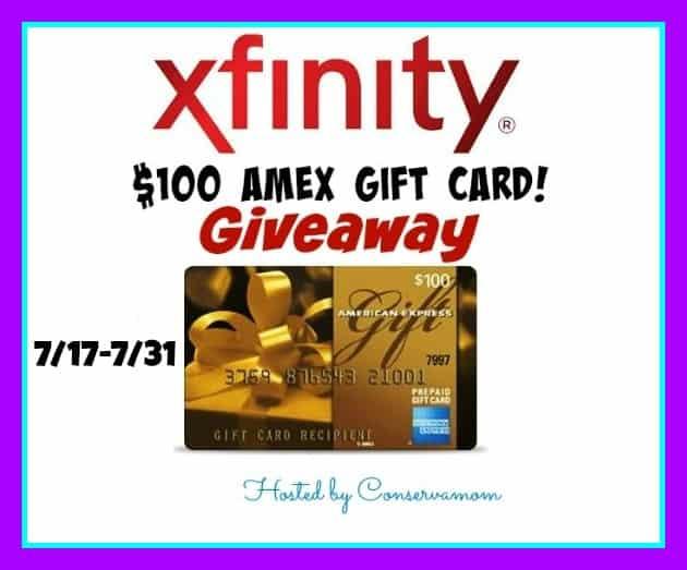 Xfinity $100 AMEX Gift Card Giveaway