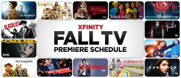 Xfinity Fall TV Premiere Schedule